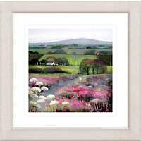 Debbie Neill - Heather Hill Framed Print, 57 x 57cm