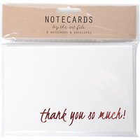 Art File Foiled Thank You Notecards, Pack of 8