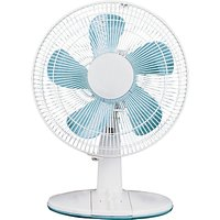 NSAUK DF-3032 White Desk Fan, 12 Inch