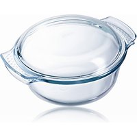Pyrex Easy Grip Glass Round Casserole Oven Dish, 2.1L