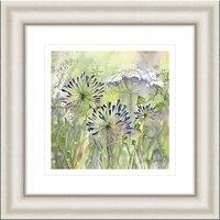 Catherine Stephenson - Agapanthus Grasses 2 Framed Print, 50 x 50cm