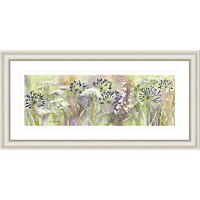 Catherine Stephenson - Agapanthus Grasses Framed Print, 55 x 110cm