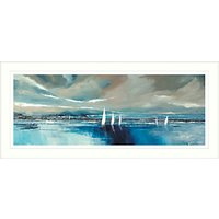 Stuart Roy - Blue Horizon Framed Print, 49 x 104cm