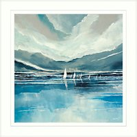 Stuart Roy - Blue Horizon 2 Framed Print, 62 x 62cm