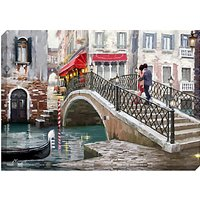 Richard Macneil - Lovers, Venice Bridge Print on Canvas, 70 x 100cm