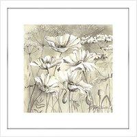 Catherine Stephenson - Neutral White Poppy Pods 2 Framed Print, 44 x 44cm