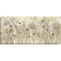 Catherine Stephenson - Neutral Floral Pods Print on Canvas, 60 x 135cm