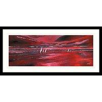 Stuart Roy - Red Horizon Framed Print, 49 x 104cm