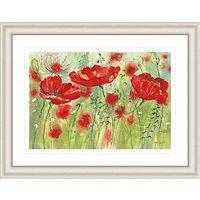 Catherine Stephenson - Red Poppy Maze Framed Print, 90.5 x 70.5cm