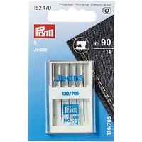 Prym Jeans Sewing Machine Needles, 130/705 90/14, Pack of 5