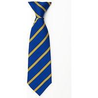 St Michael's Church of England Preparatory School Unisex Clip-On Tie, Blue/Amber