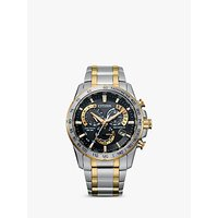 shop for Citizen AT4004-52E Men's Radio Controlled Eco-Drive Chronograph Two Tone Bracelet Strap Watch, Silver/Gold at Shopo