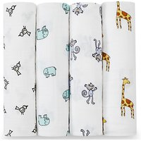 aden + anais Jungle Jam Baby Swaddle Blanket, Pack of 4