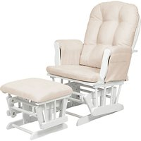 Kub Haywood Glider Nursing Chair and Footstool, White