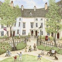 Janice Mcgloine - Park Gate Print on Canvas, 50 x 50cm