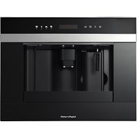 Fisher & Paykel EB60DSXB1 Built-In Coffee Machine, Stainless Steel/Glass