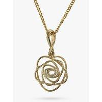 shop for Nina B 9ct Gold Open Rose Pendant at Shopo
