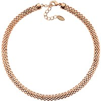 Finesse Mesh Collar Necklace, Rose Gold