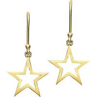 shop for London Road 9ct Gold Portobello Starry Night Star Drop Earrings, Gold at Shopo