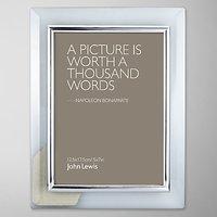 John Lewis Glass Metal Border Photo Frame, 5 x 7 (13 x 18cm)