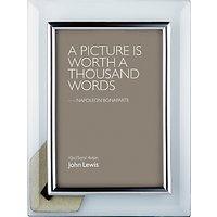 John Lewis Glass Metal Border Photo Frame, 4 x 6 (10 x 15cm)