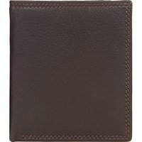 John Lewis Leather Card Holder, Brown