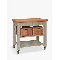 Eddingtons Lambourn 2 Drawer Beech Wood Butcher's Trolley