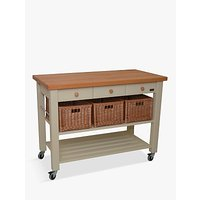 Eddingtons Lambourn 3 Drawer Beech Wood Butcher's Trolley
