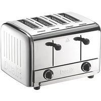 Dualit 4-Slice Pop Up Toaster, Stainless Steel