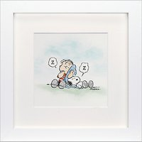 Schulz - Linus and Snoopy Framed Print, 23 x 23cm