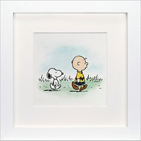 Schulz - Charlie Brown and Snoopy Framed Print, 23 x 23cm