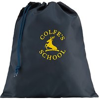 Colfes School Unisex Swimming Bag, Navy Blue