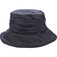 Olney Annabelle Wax Rouched Hat, Black