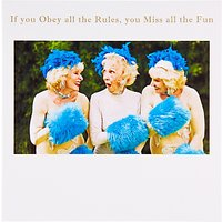Susan O'Hanlon Women With Blue Fur Greeting Card
