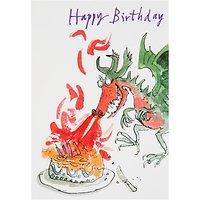 Woodmansterne Dragon Fire On Cake Birthday Card