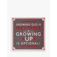 Hotchpotch Growing Up Is Optional Birthday Card