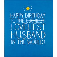 Happy Jackson Loveliest Husband Birthday Card