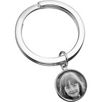 Under the Rose Personalised Photograph Fob Keyring, Small