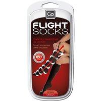 Go Travel 899 Flight Socks, Black, Medium