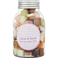 Fine Confectionery Company Personalised Dolly Mix Hearts Jar, Pack of 25, Medium