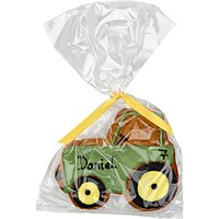 Image on Food Personalised Happy Birthday Tractor Gingerbread, Pack of 10