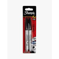 Sharpie Permanent Marker, Black, Pack of 2