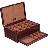 dulwich designs heritage 10section watch box, brown