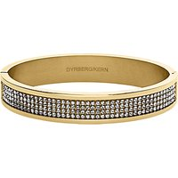 Dyrberg/Kern Heli Gold Swarovski Bangle