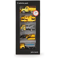John Lewis Construction Vehicles, Pack of 5