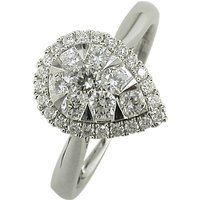 shop for E.W Adams 18ct White Gold Pear Shaped Diamond Cluster Engagement Ring, White Gold at Shopo