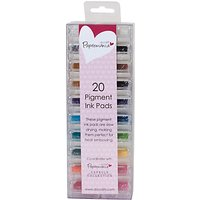 Docrafts Papermania Mini Ink Pads Pigment, Pack of 20, Multi