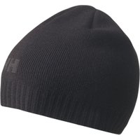 shop for Helly Hansen Ribbed Logo Beanie, One Size, Black at Shopo