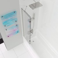 John Lewis & Partners Left-Hand Duo Two Panel Shower Screen