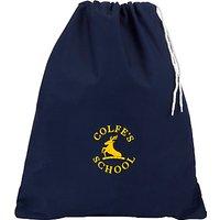 Colfe's School Unisex Cotton PE Bag, Navy Blue